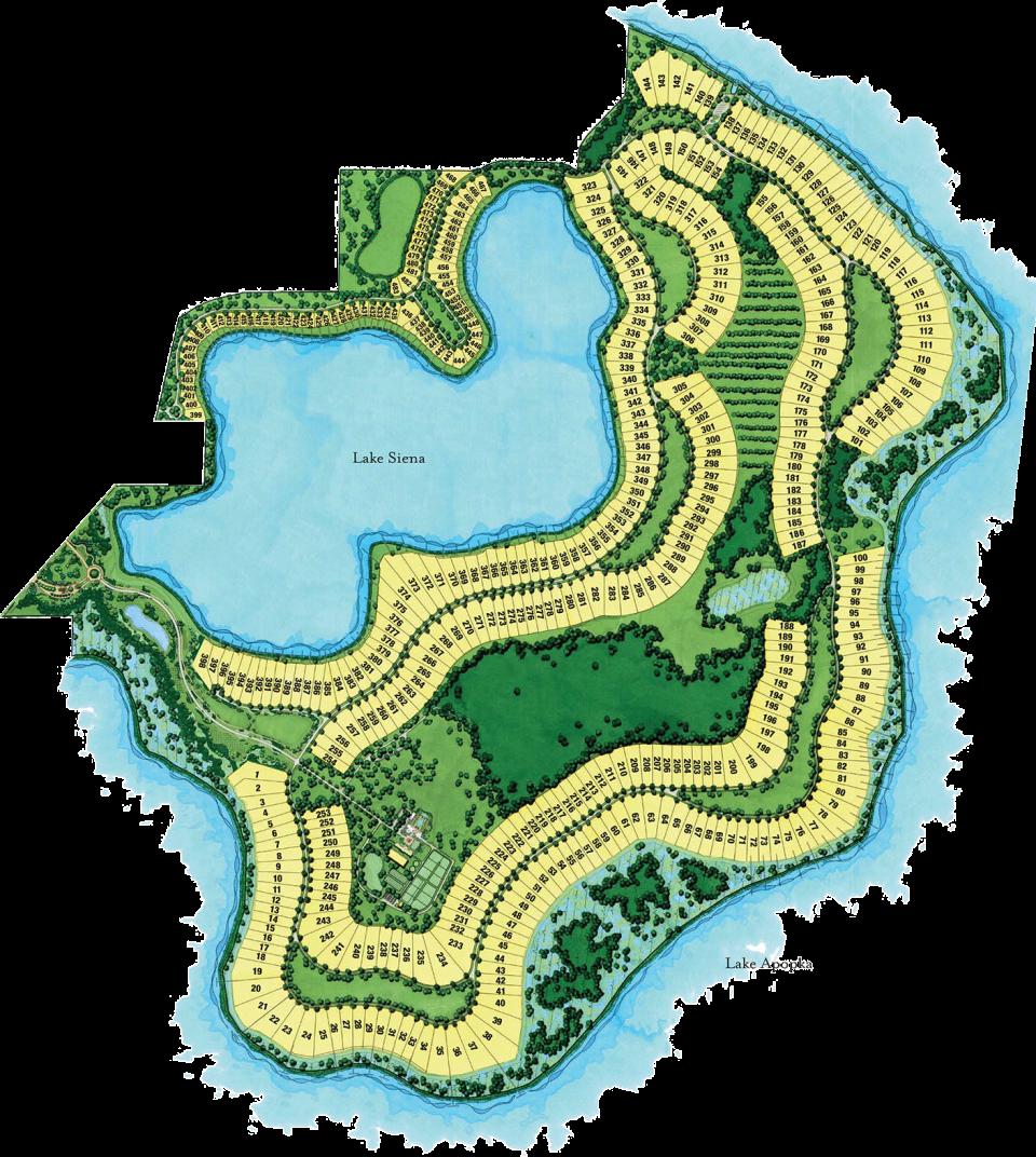 Bella Collina Lake Lot Map